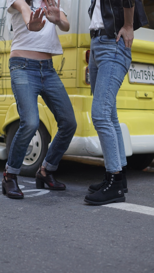 Boots from Zara and Timberland