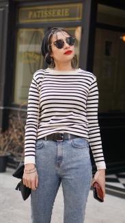 breton_stripe_red_lipstick_french_woman_fashion