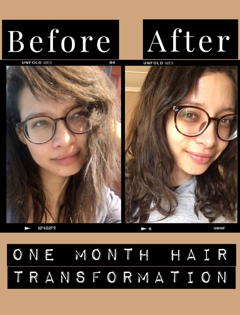 one_month_hair_transformation_from_damaged_hair_to_healthy_hair_fast